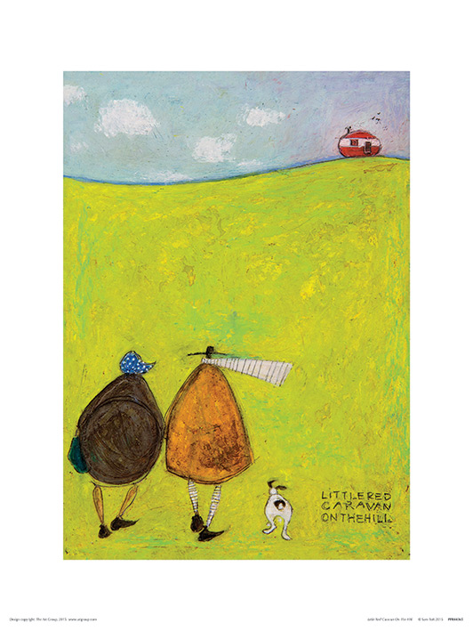 Sam Toft (Little Red Caravan On The Hill) Art Print