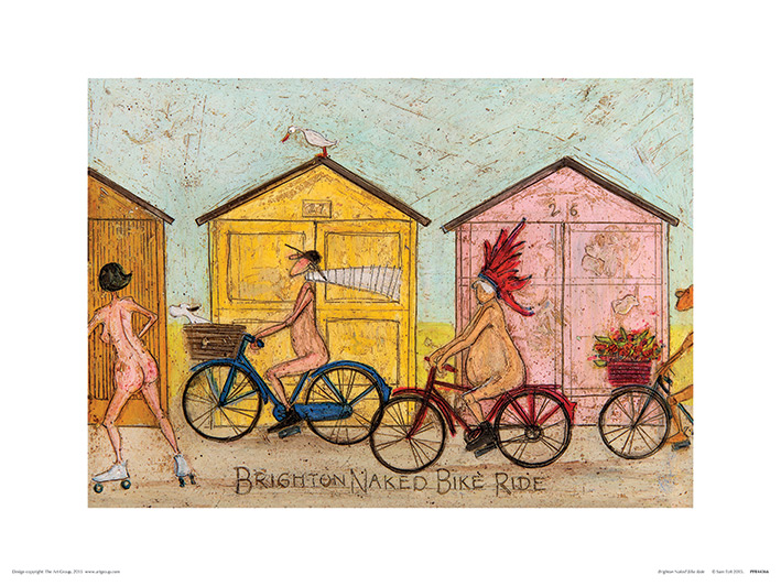 Sam Toft (Brighton Naked Bike Ride) Art Print