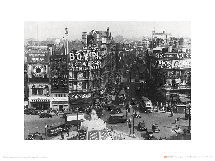 Time Life (Piccadilly Circus, London 1942) Art Print