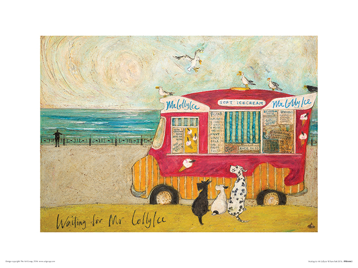 Sam Toft (Waiting for Mr Lollyice) Art Prints