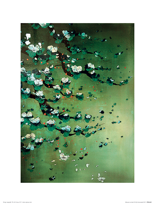 Lily Greenwood (Blossoms on Jade) Art Prints