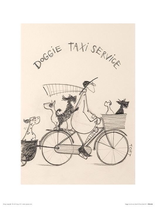 Sam Toft (Doggie Taxi Service Sketch) Art Prints