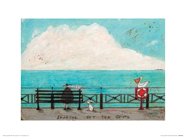 Sam Toft (Sharing out the Chips) Art Print