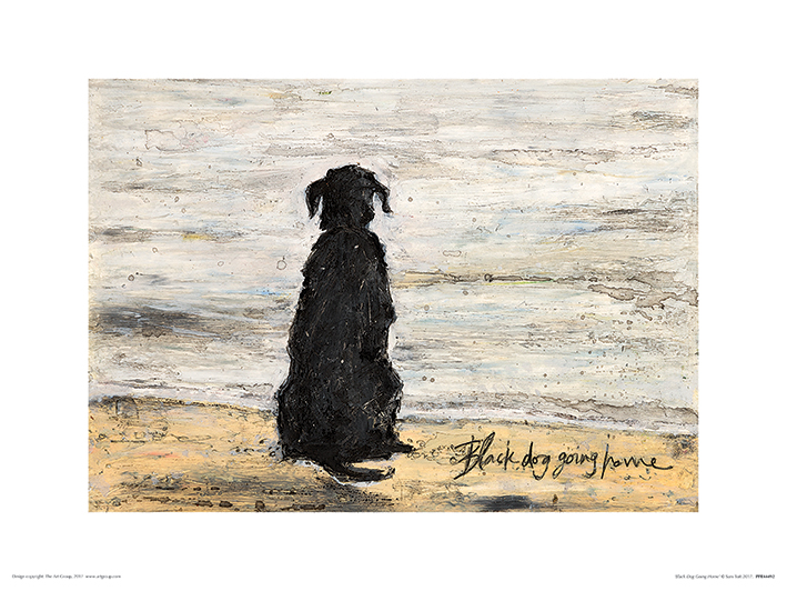 Sam Toft (Black Dog Going Home) Art Prints