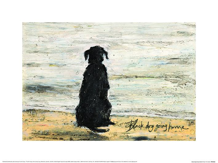 Sam Toft (Black Dog Going Home) Art Prints