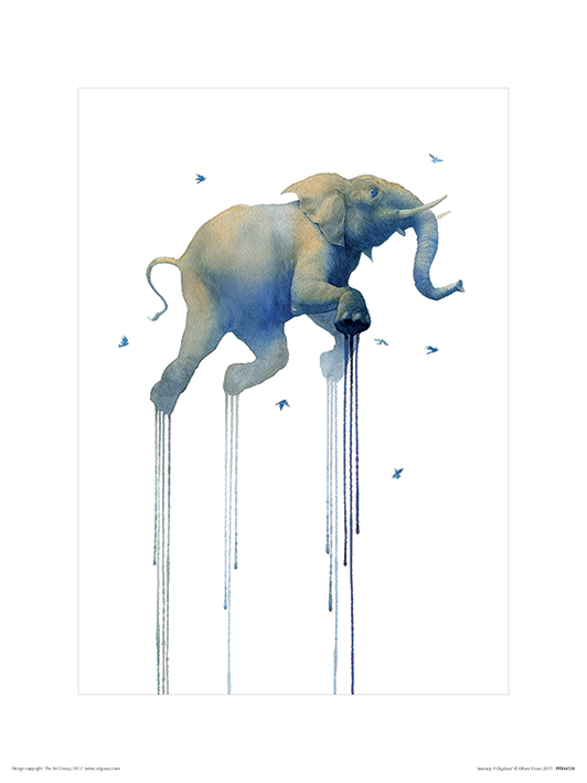 Oliver Flores (Journey 1 Elephant) Art Prints