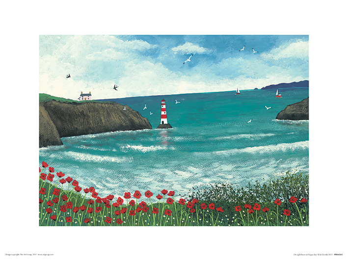 Jo Grundy (The Lighthouse at Poppy Bay) Art Prints