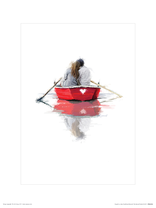 Richard Macneil (Couple in a Boat) Art Prints