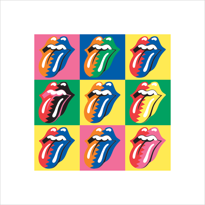 Rolling Stones (Pop Art) Art Print