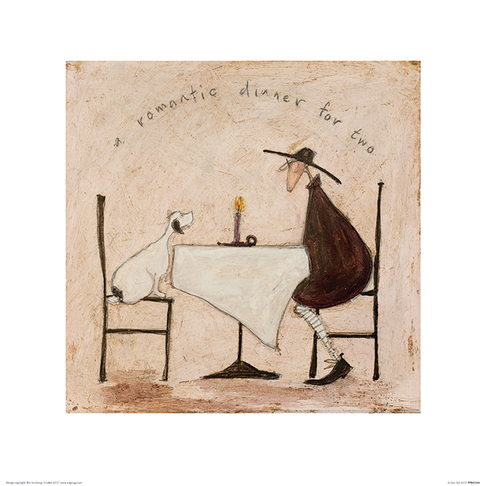 Sam Toft (A Romantic Dinner For Two) Art Print
