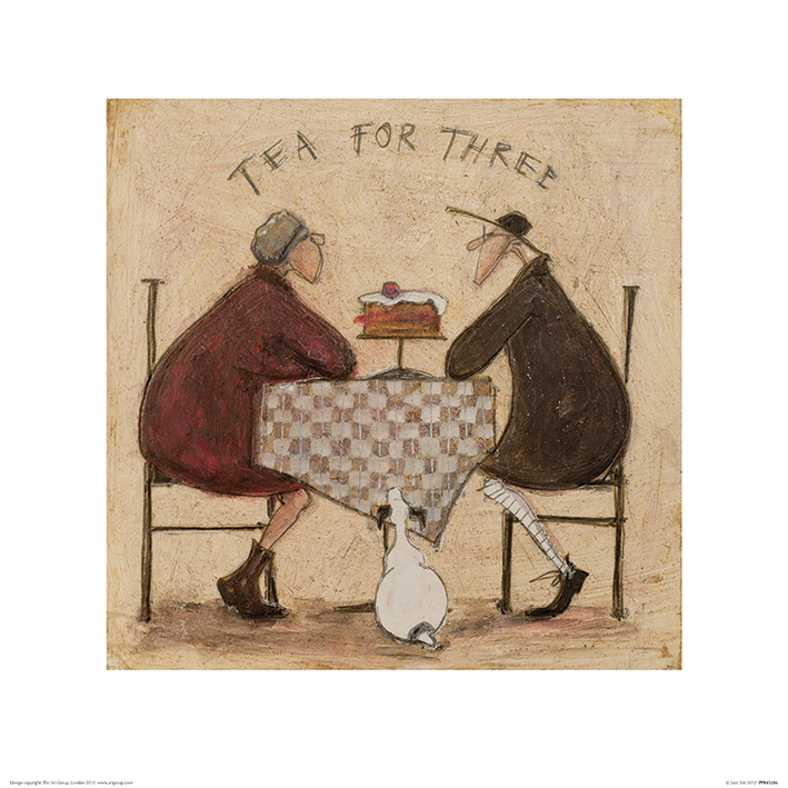 Sam Toft (Tea for Three 2) Art Print