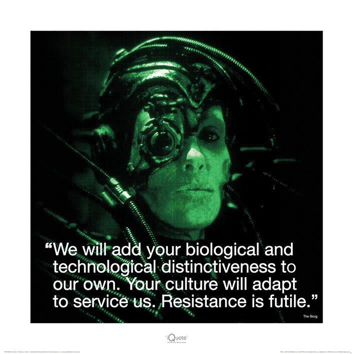 Star Trek (Borg iQuote) Art Print
