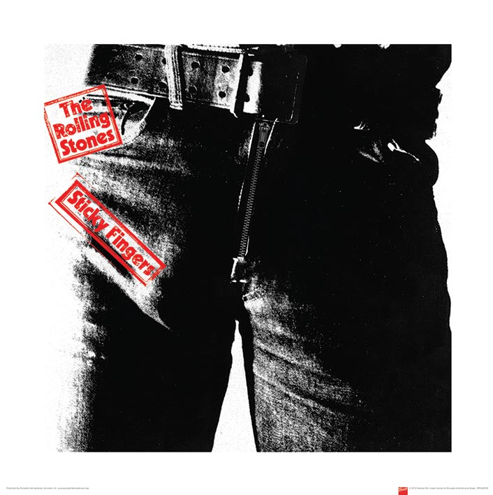 Rolling Stones (Sticky Fingers) Art Prints