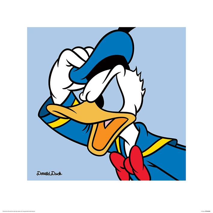 Donald Duck (Blue) Art Print