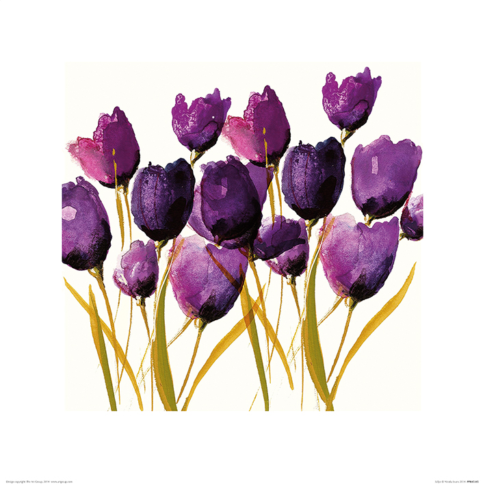 Nicola Evans (Tulips) Art Prints