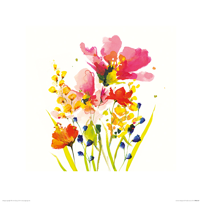 Nicola Evans (Summer Bouquet) Art Print