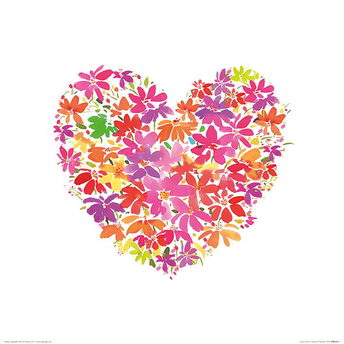 Summer Thornton (Floral Heart) Art Print