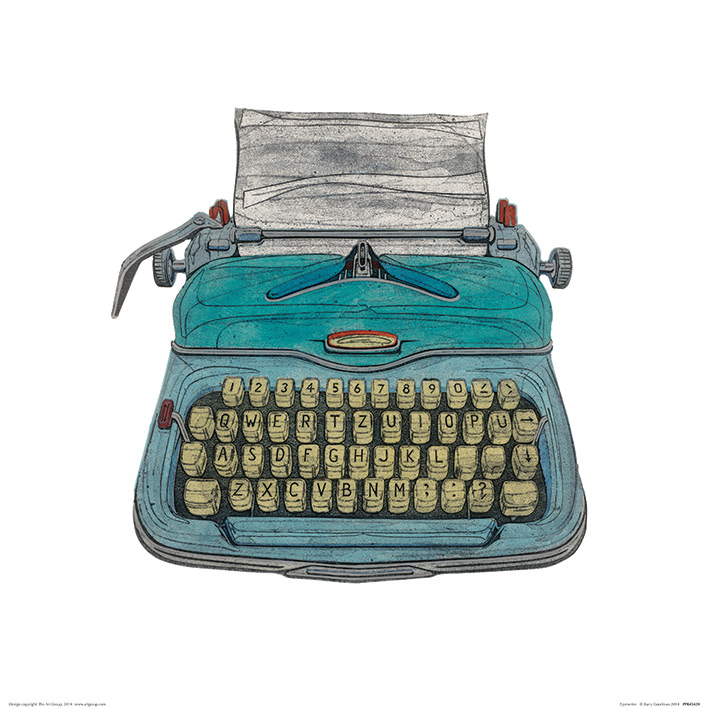 Barry Goodman (Typewriter) Art Prints
