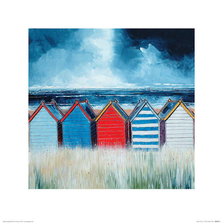 Stuart Roy (Beach Huts I) Art Prints