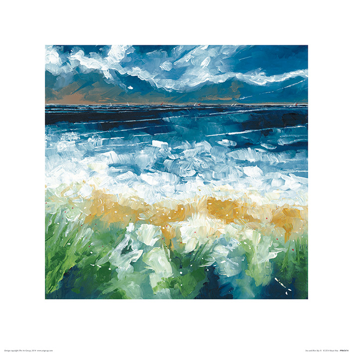 Stuart Roy (Sea and Blue Sky IV) Art Prints