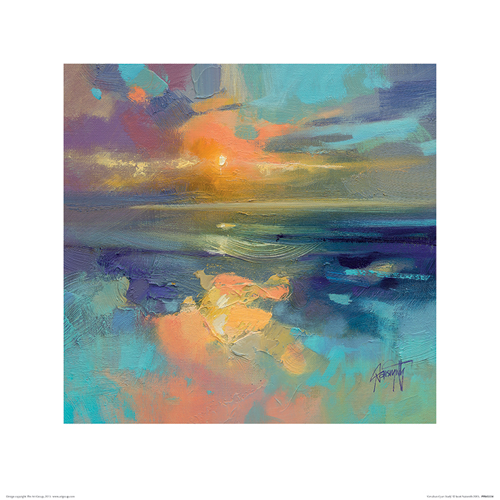 Scott Naismith (Cerulean Cyan Study) Art Prints