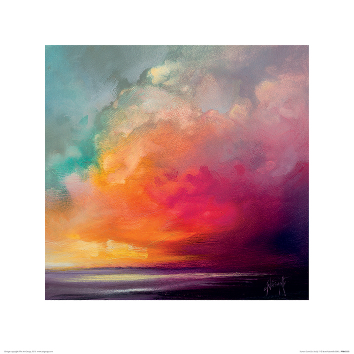 Scott Naismith (Sunset Cumulus Study 1) Art Print