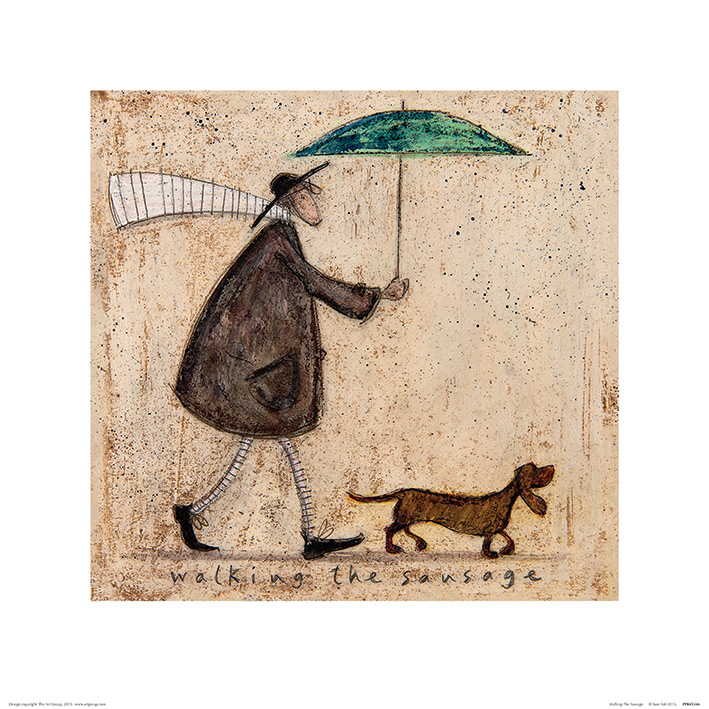 Sam Toft (Walking The Sausage) Art Print