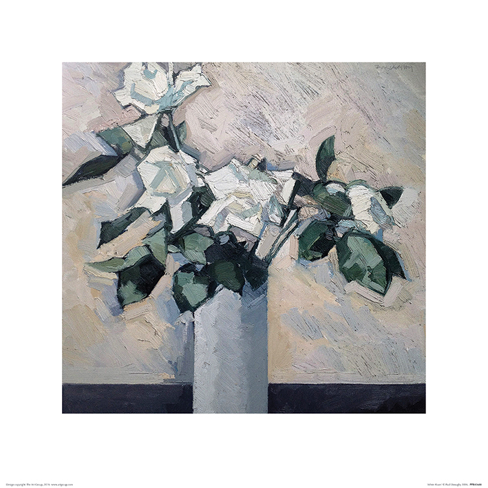 Paul Donaghy (White Roses) Art Print