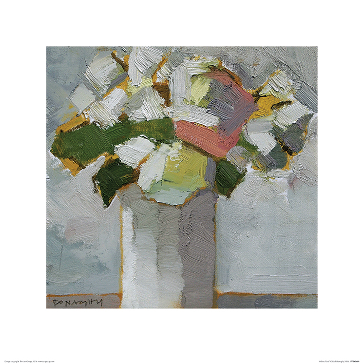 Paul Donaghy (White Floral) Art Print