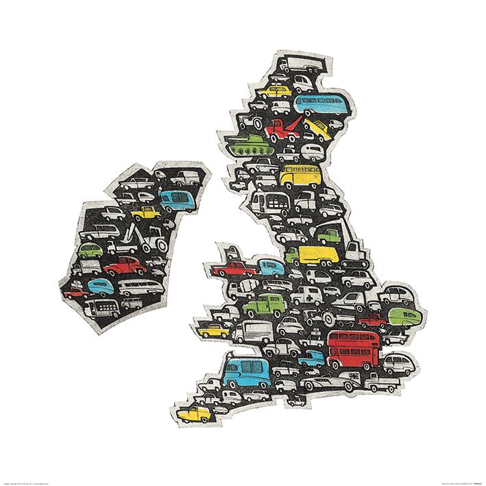Barry Goodman (Motorway Map) Art Print