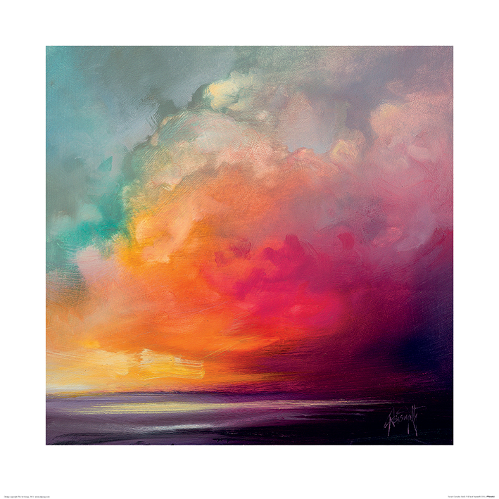 Scott Naismith (Sunset Cumulus Study 1) Art Prints
