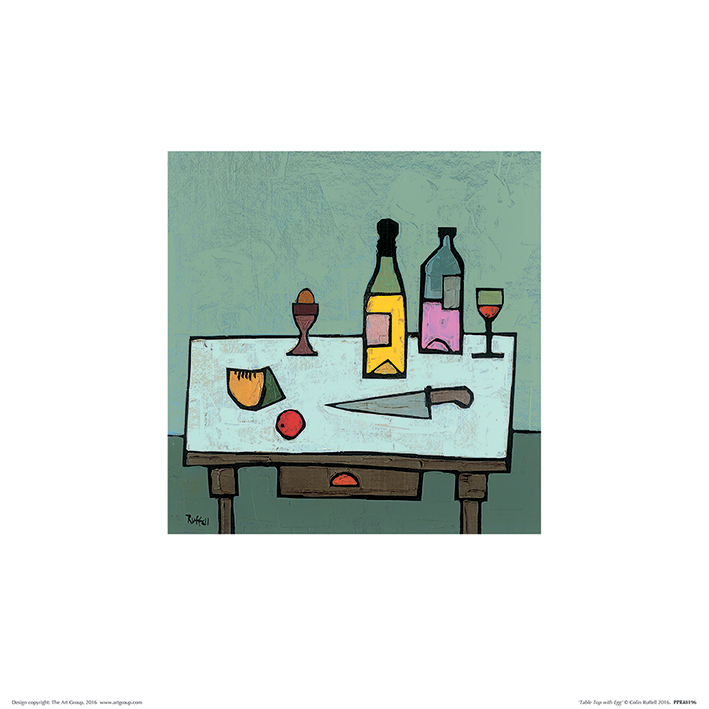 Colin Ruffell (Table Top with Egg) Art Prints