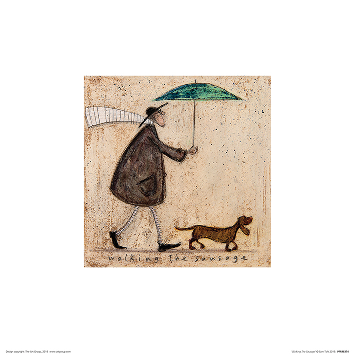 Sam Toft (Walking The Sausage) Art Prints