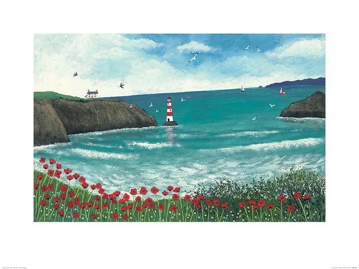Jo Grundy (The Lighthouse at Poppy Bay) Art Print