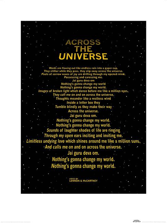 Lyrics by Lennon & McCartney (Across The Universe - Text Crawl) Art Print