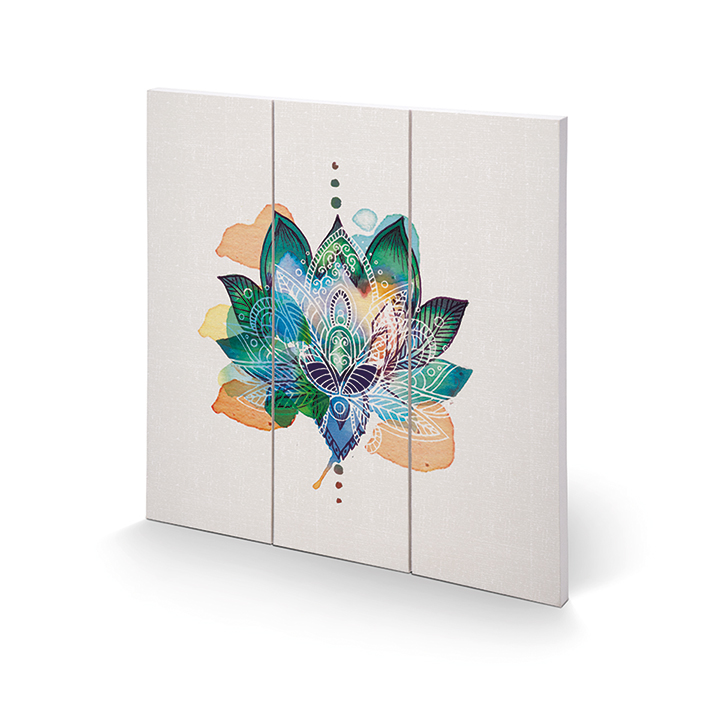 Summer Thornton (Lotus Flower) Wood Prints