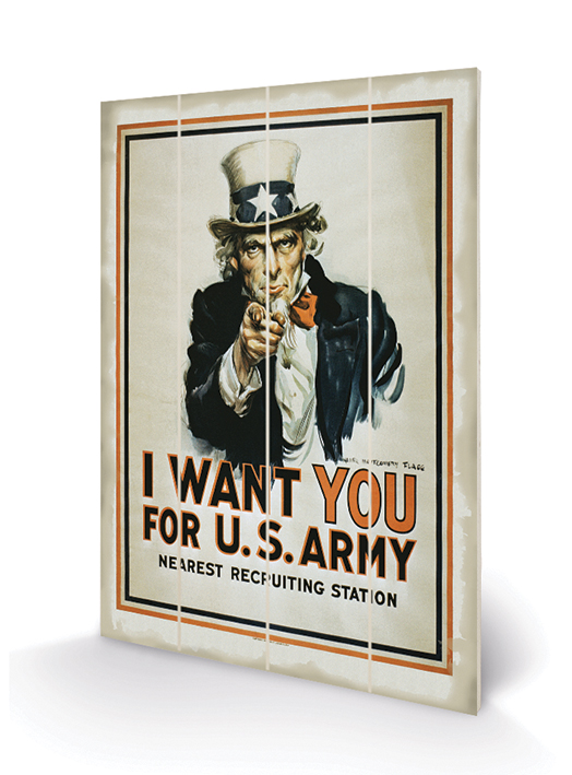 I Want You (Uncle Sam) Wood Prints