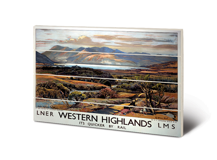 Western Highlands (2) Wood Print