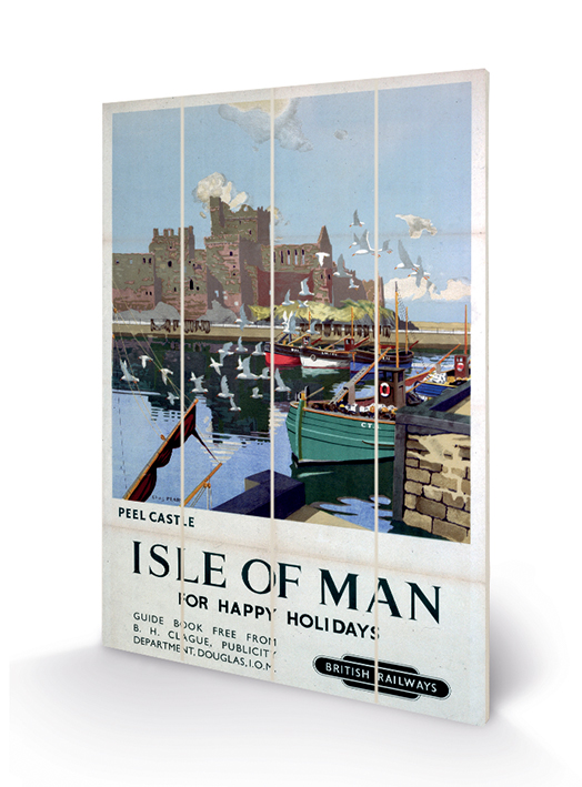 Isle of Man (Peel Castle) Wood Print