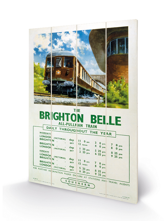 Brighton Belle Wood Print
