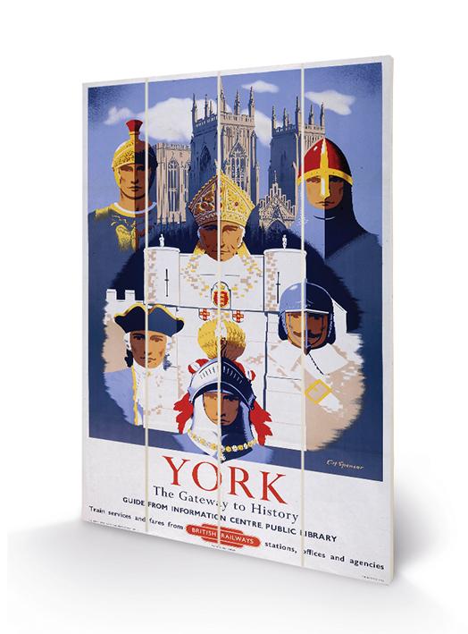 York (5) Wood Print
