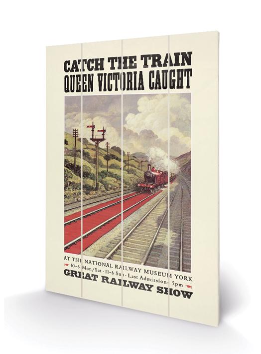 Catch the Train Wood Print