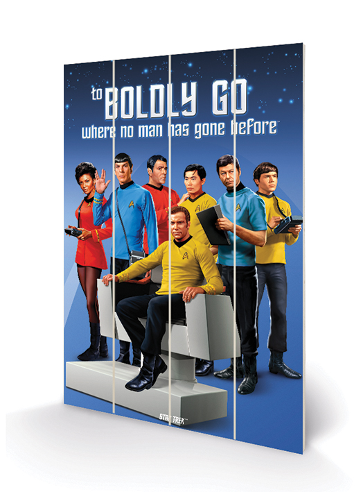 Star Trek (Boldly Go) Wood Prints