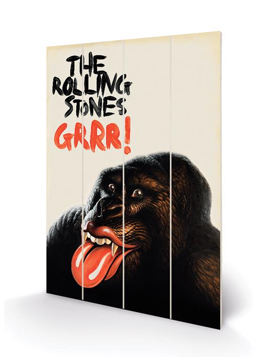 Rolling Stones (Grr!) Wood Print