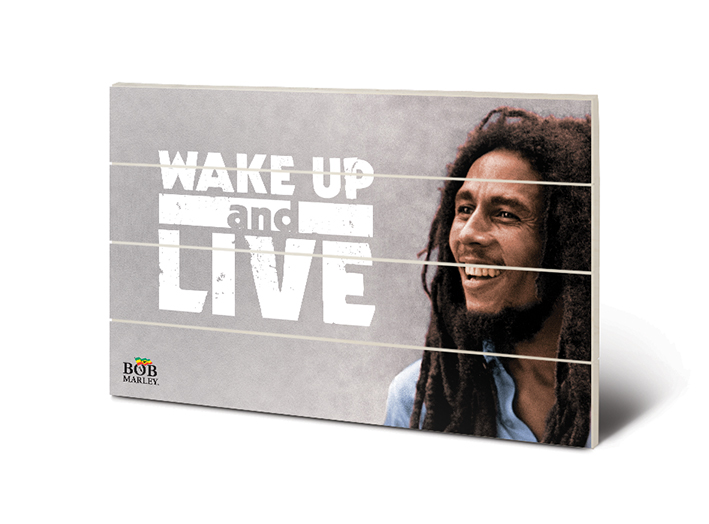 Bob Marley (Wake Up & Live) Wood Print