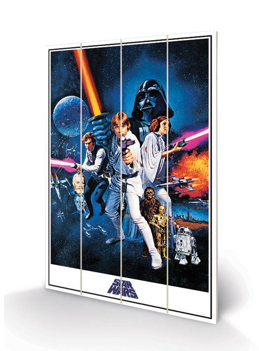 Star Wars A New Hope (One Sheet) Wood Prints