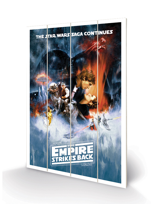 Star Wars The Empire Strikes Back (One Sheet) Wood Print