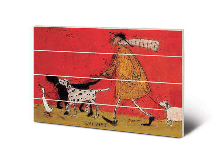 Sam Toft (Walkies) Wood Print