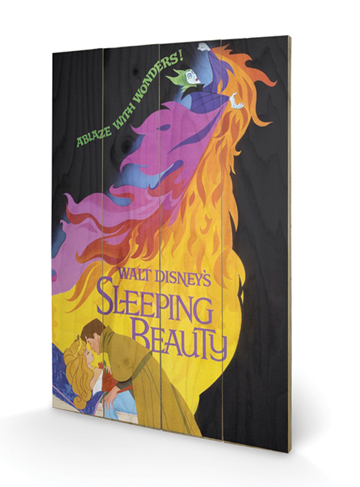 Sleeping Beauty (Ablaze) Wood Print