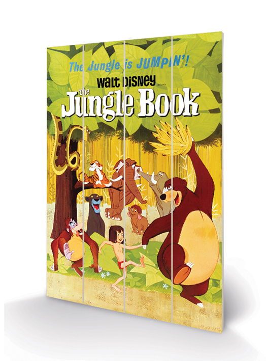 The Jungle Book (Jumpin') Wood Print